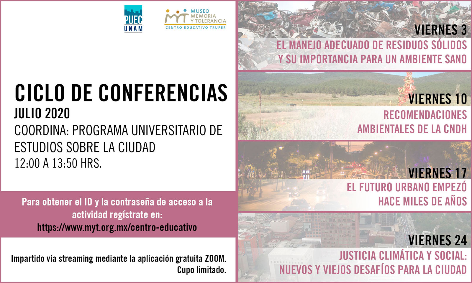 Ciclo de conferencias Museo Memoria y Tolerancia